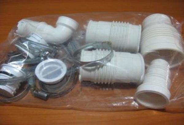 Sanibest : Installation Kit, All plastic and rubber fittings including new  elbow complete